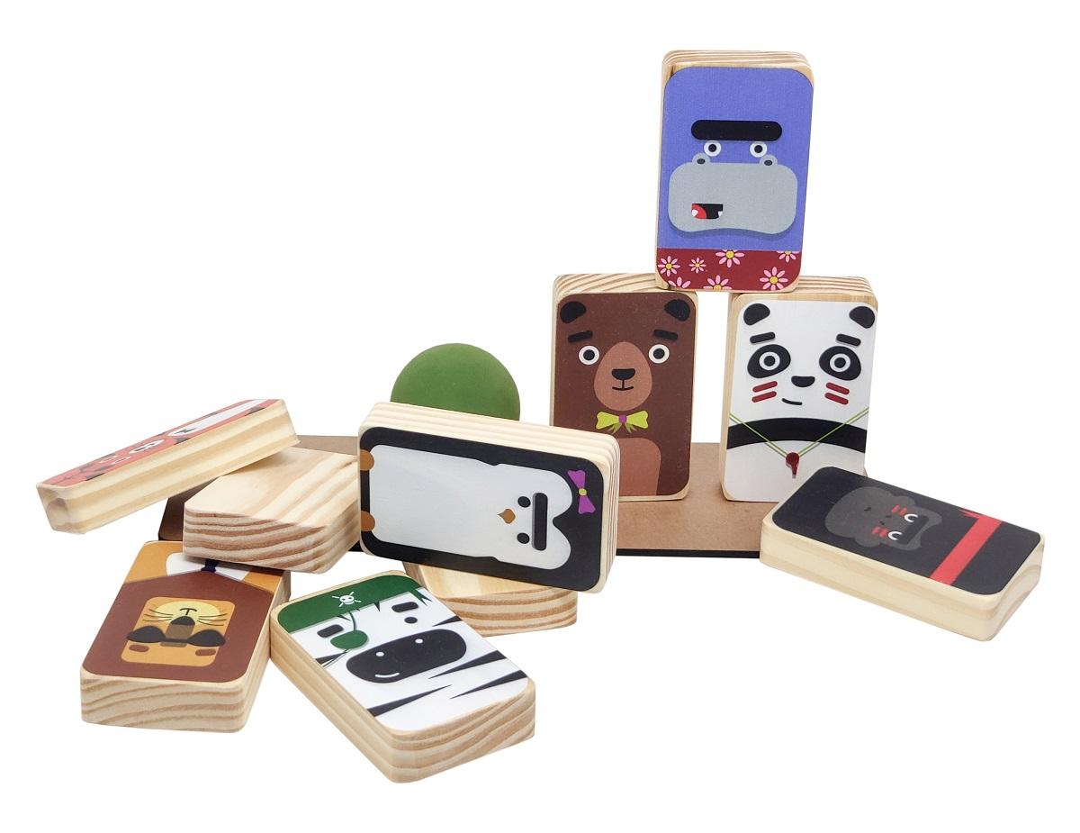 Brinquedo Pedagógico Equilíbrio Animais -Montessori