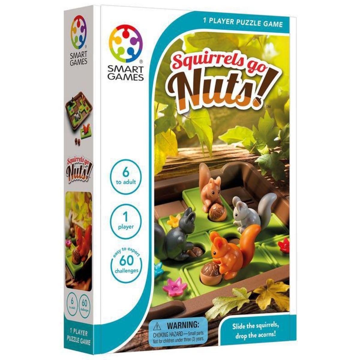 Brinquedo Pedagógico Lúdico Esquilos Querem Nozes-Squirrels Go Nuts