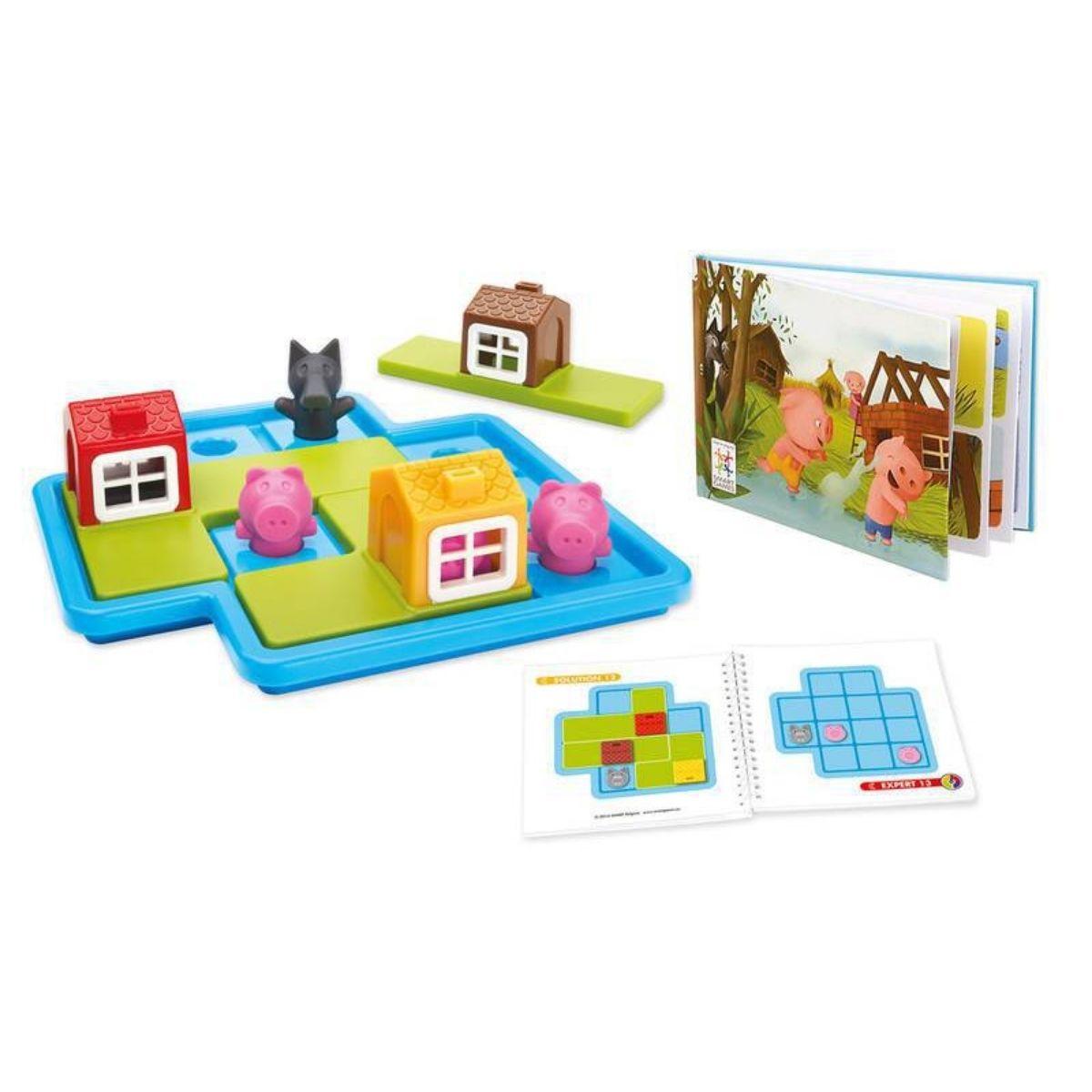 Brinquedo Três Porquinhos Jogo Raciocínio Lógico Three Little Piggies Deluxe