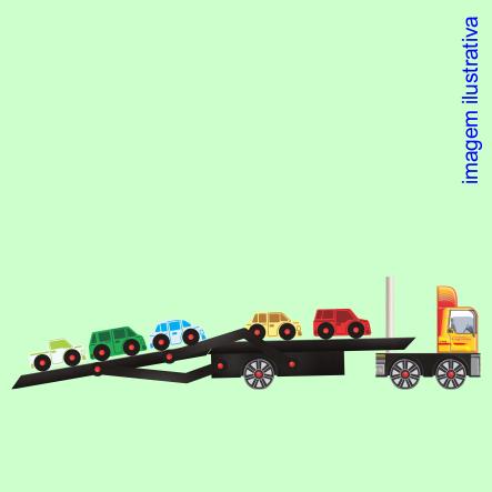 Caminhão De Brinquedo Lúdico Transporte Carros Caminhão Cegonha MDF