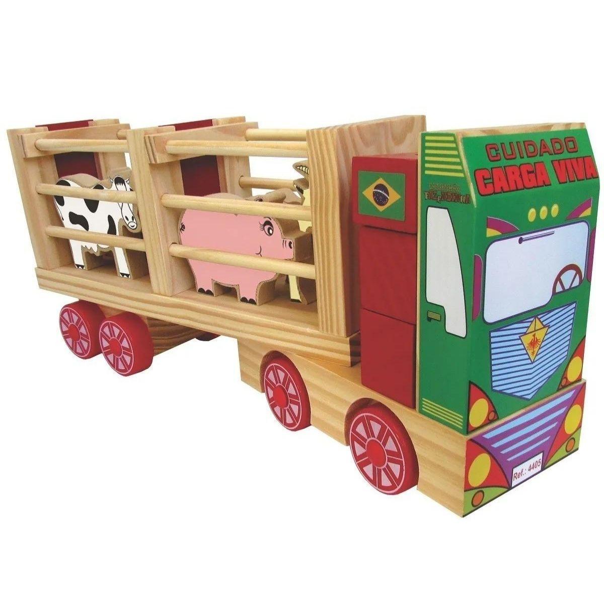 Caminhão De Brinquedo Lúdico Transporte Animais Caminhão Fazendinha
