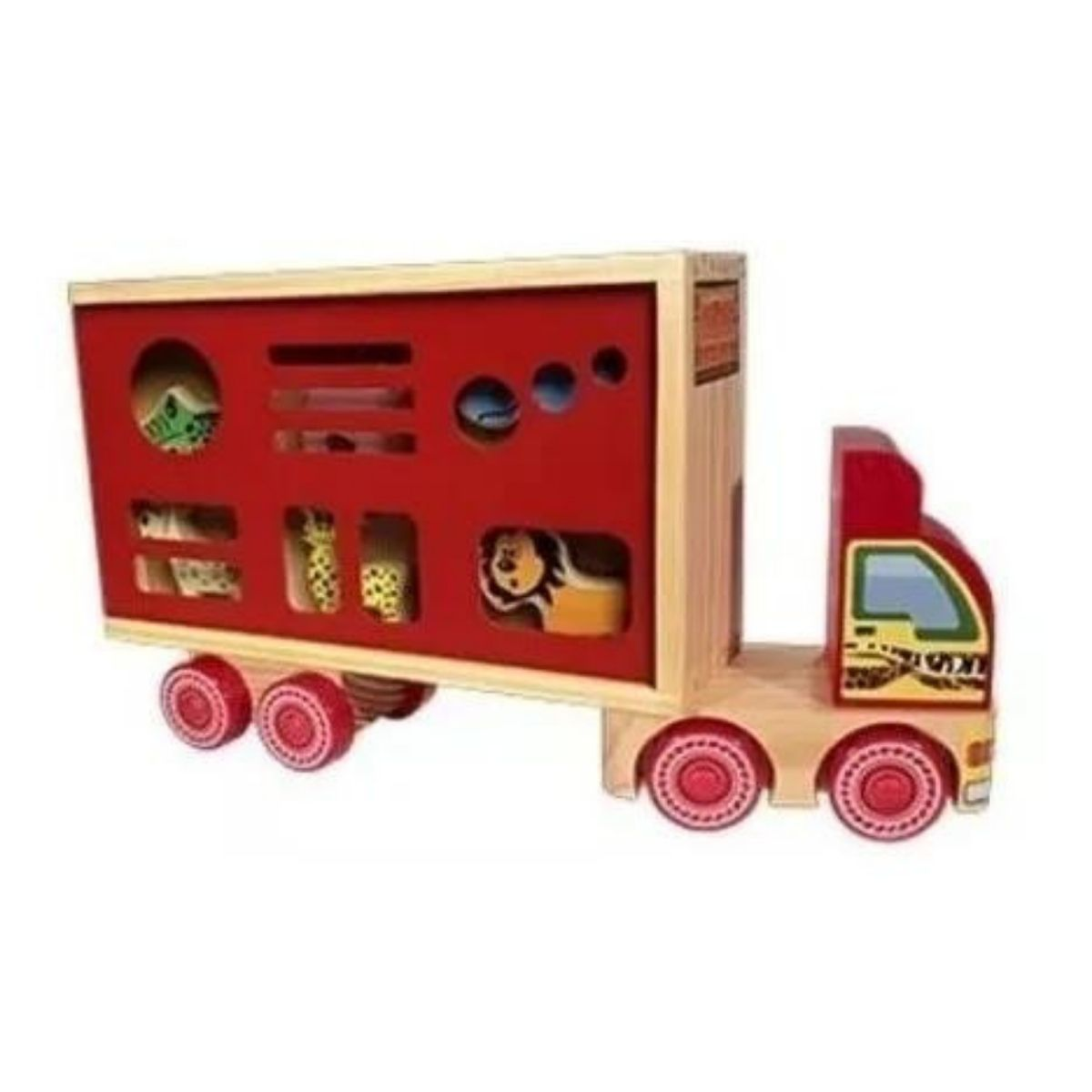 Caminhão De Brinquedo Lúdico Transporte Animais Caminhão Zootrans