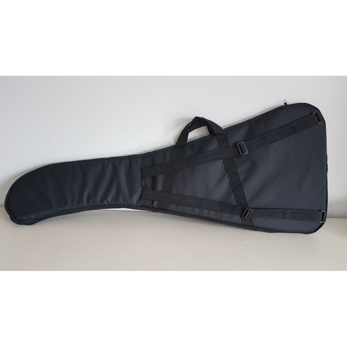 Capa Guitarra Soft Case Start Flying V Almofadada - Preto