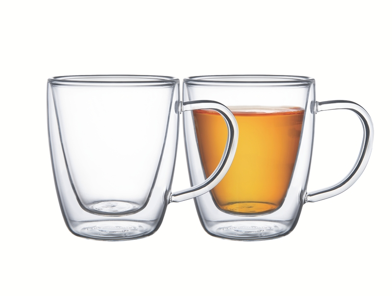 CJ Xicara Tramontina Chá e Café Vidro Duplo 2pçs