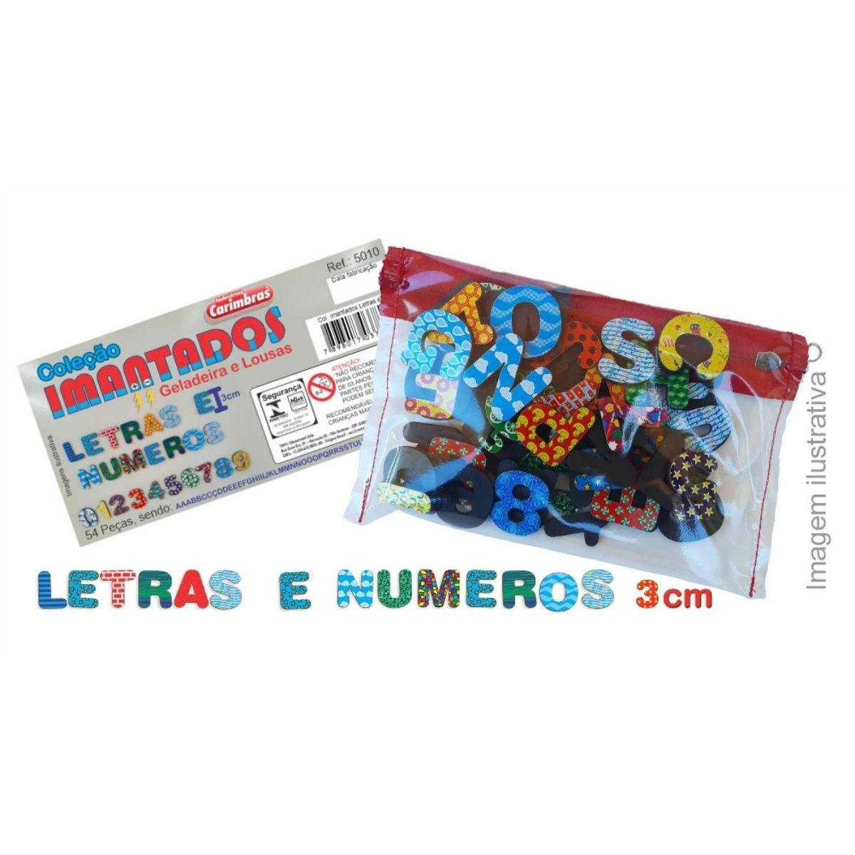 Coleção Letras E Numeros Imã Geladeira E Lousa Montessori