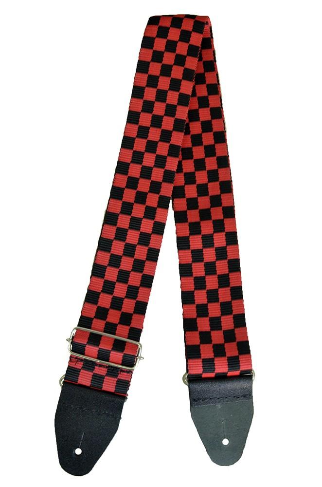 Correia Soft Case Xadrez 5cm Preto com Vermelho