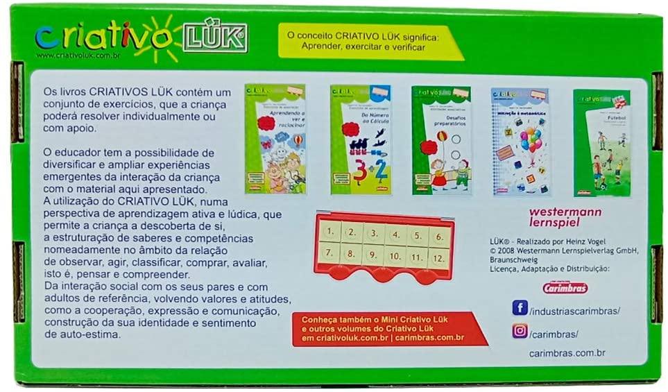 Criativo Luk Kit Jogo Educativo Pedagógico 05 Livros E 01 Estojo