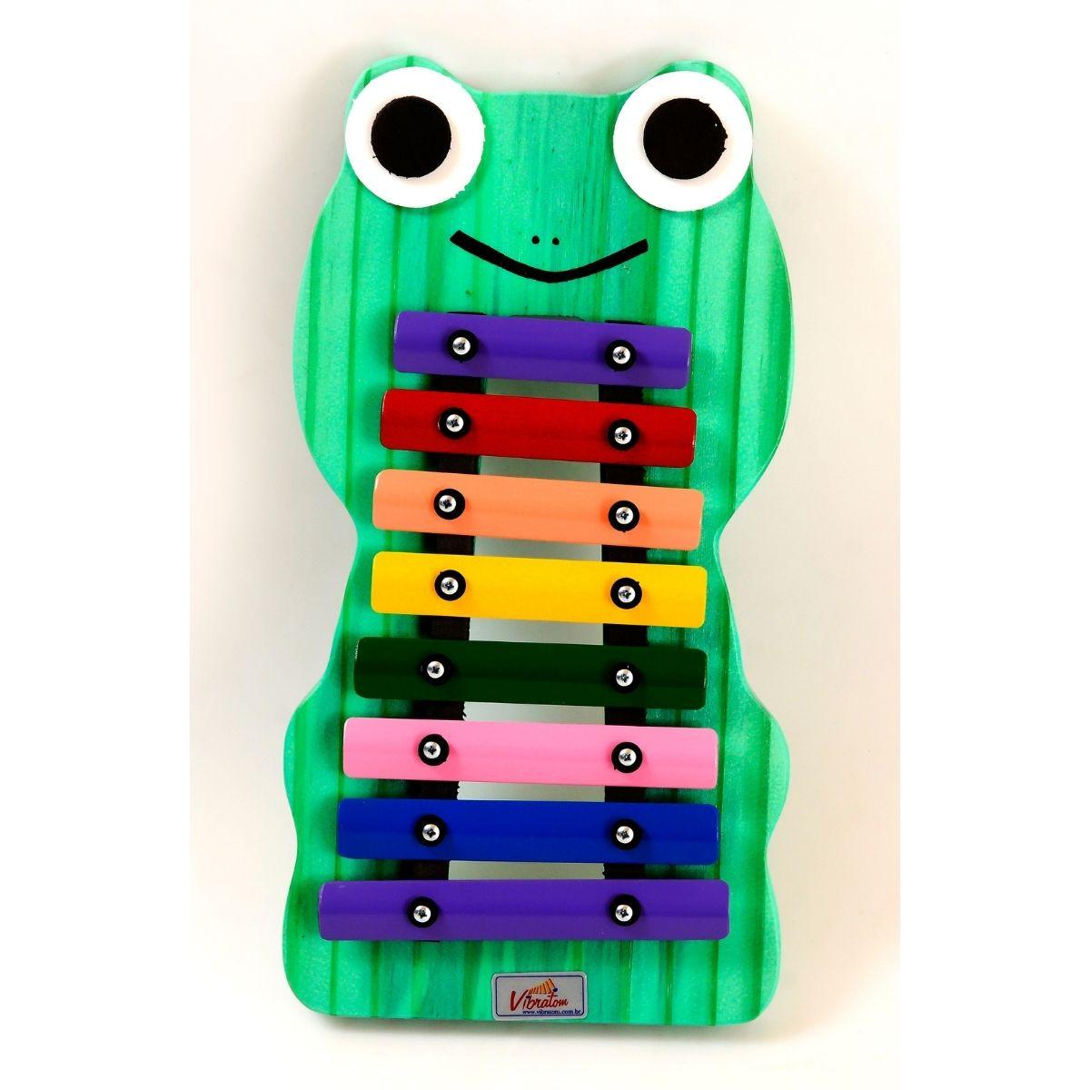 Instrumento Musical Infantil Metalofone Sapo
