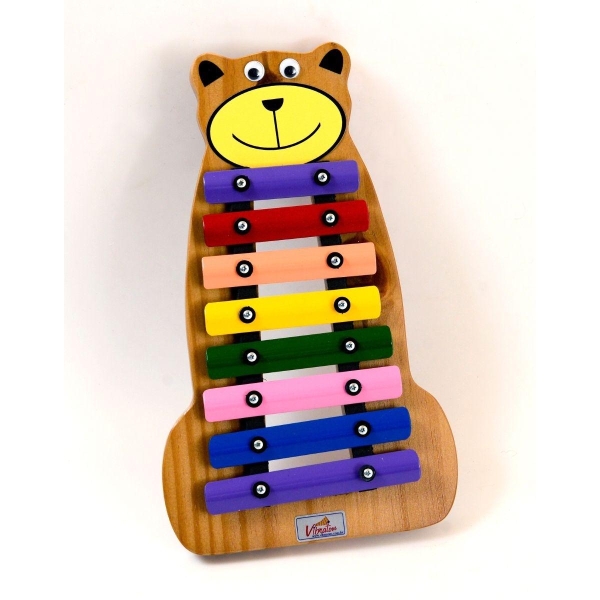 Instrumento Musical Infantil Metalofone Urso