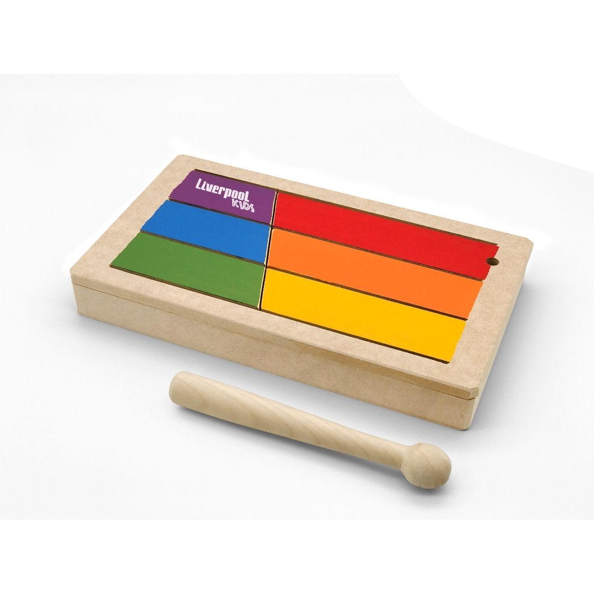 Instrumento Musical Infantil Tambor De Língua Liverpool