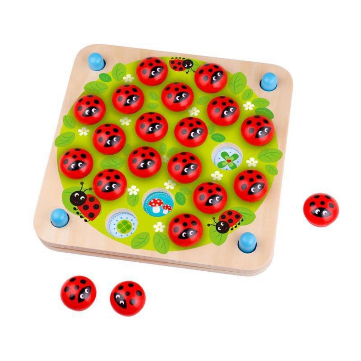 Jogo Da Memória Joaninha  Brinquedo Educativo 10 Cards