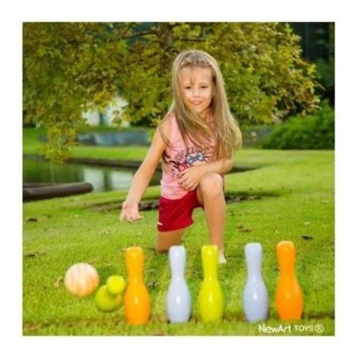 Jogo De Boliche De Madeira Colorido Jogos Pedagógicos