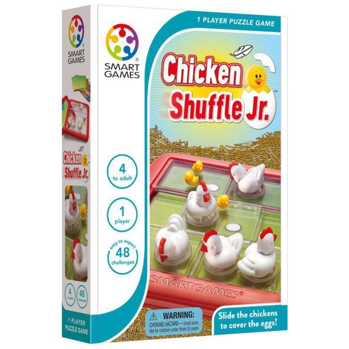 Jogo De Raciocínio Lógico Chicken Shuffle Jr Com 48 Desafios