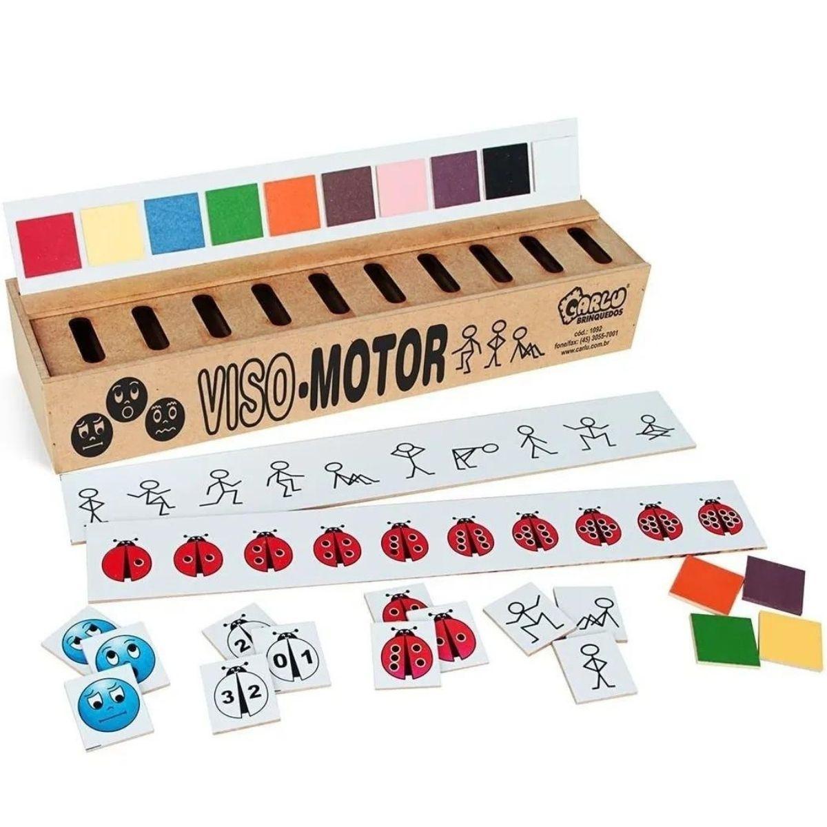 Jogo Pedagógico Viso Motor em MDF - 50 peças