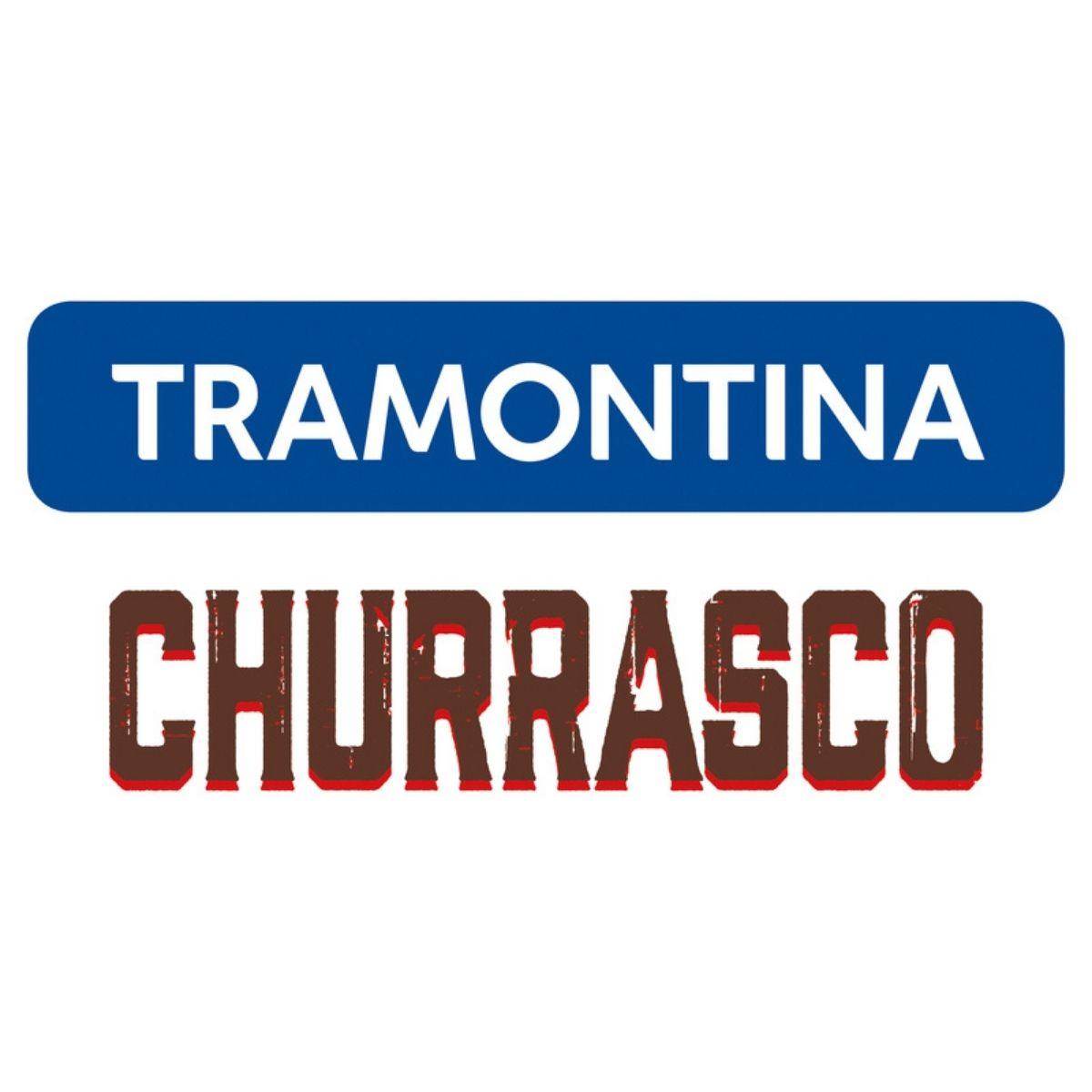 Jogo Trinchante Tramontina Churrasco com Lâminas em Aço Inox e Cabos de Madeira Natural 03 Peças