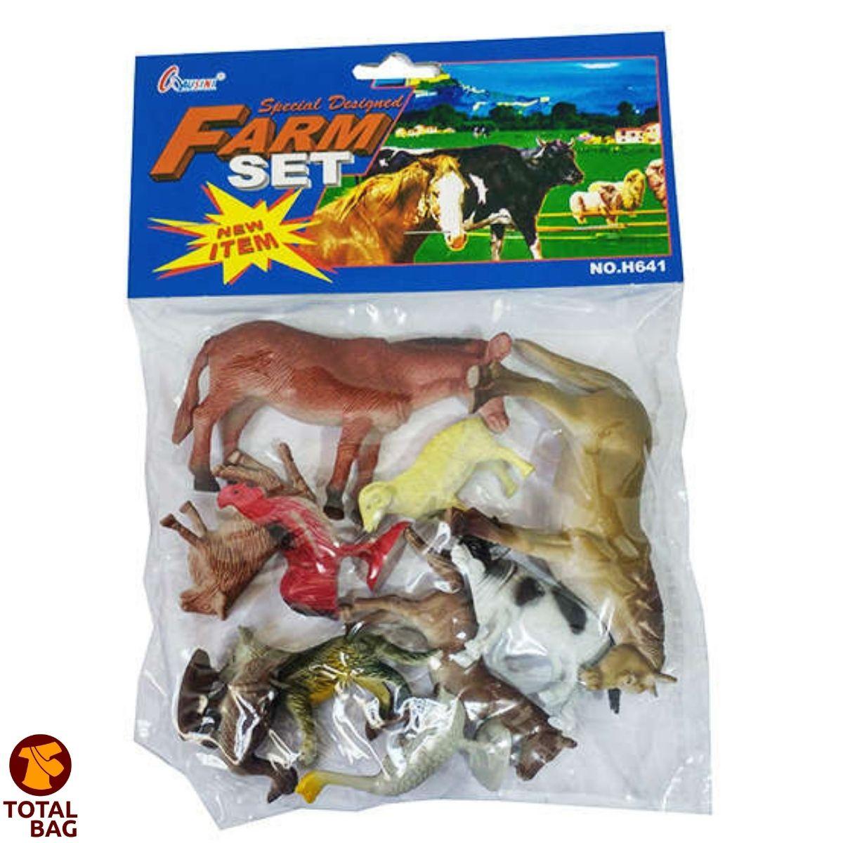 Kit Animais Fazendinha Borracha  - 30 Animais Variados