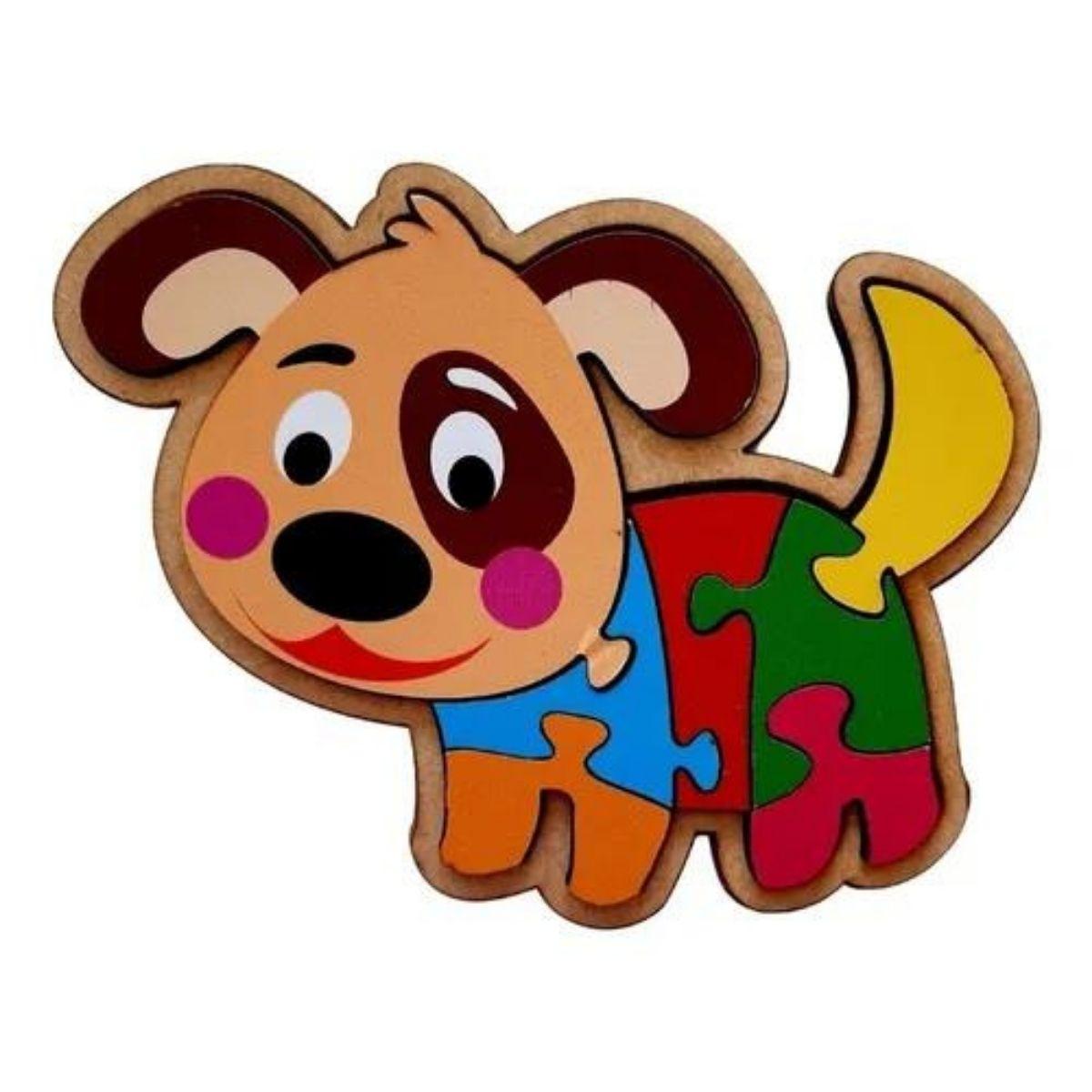 Kit Brinquedo Educativo Animais  Quebra-cabeça Infantil 4 Pcs