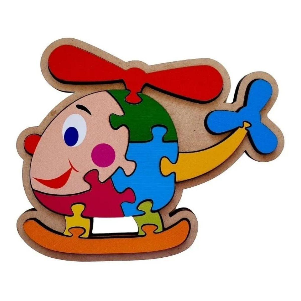 Kit Brinquedo Educativo Transporte Quebra-cabeça Infantil 3 Pcs