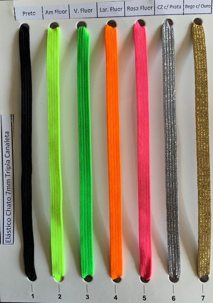 Kit Elástico Chato 7 mm 6 cores