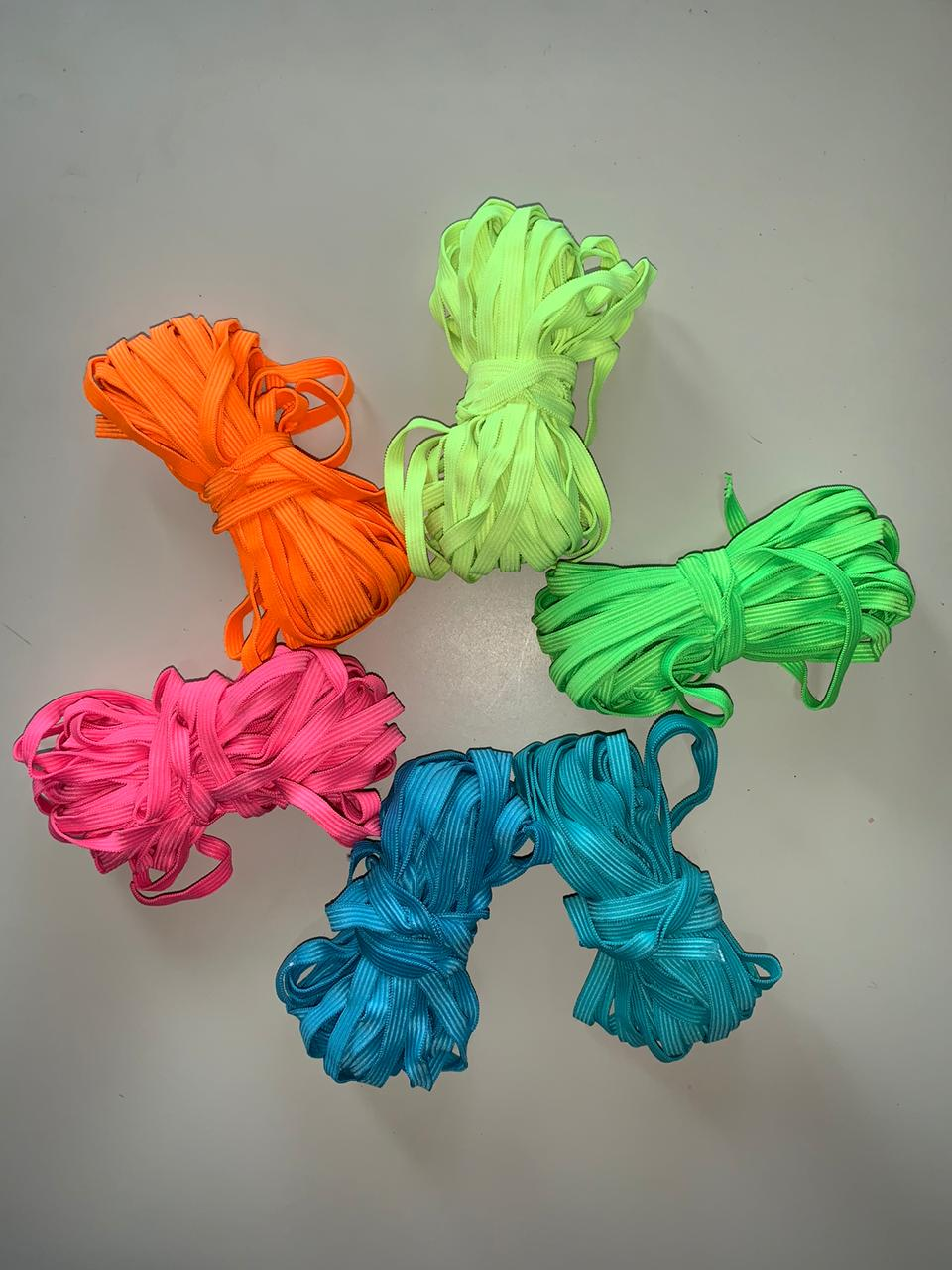 Kit Elástico Chato 7 mm 8 cores