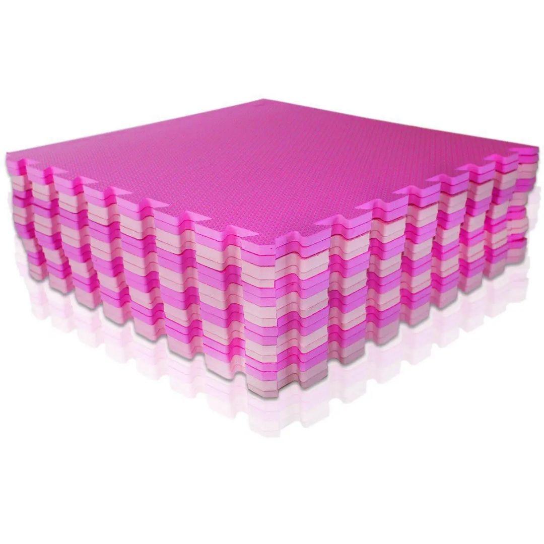 Kit Tatame Tapete EVA - 50 x 50 cm Rosa e Lilás
