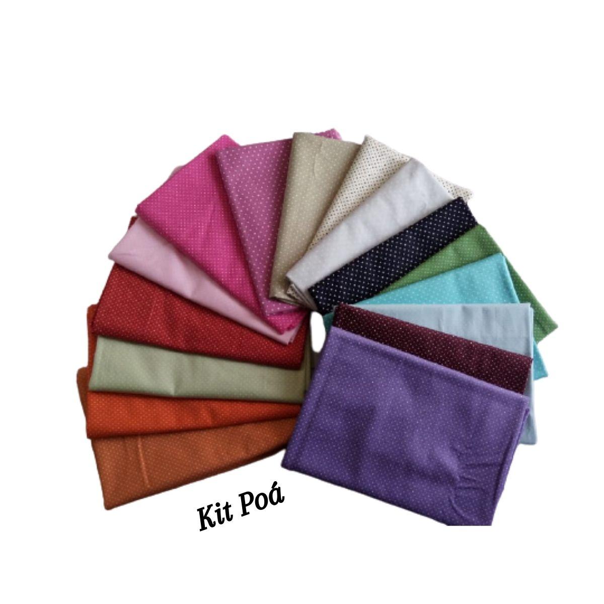 Kit Tecidos Tricoline Premium 16 Estampas - 100% Algodão
