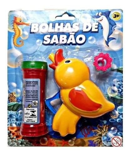 Lança Bolhas De Sabão Brinquedo Banho - Patinho Amarelinho