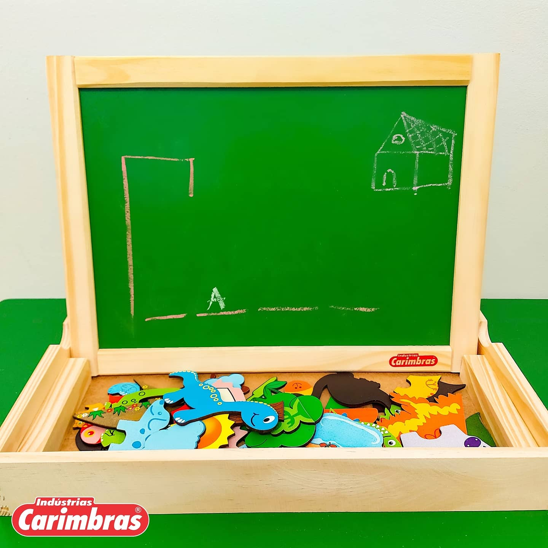 Lousa Magnética Dupla Face Brinquedo Educativo Pedagógico