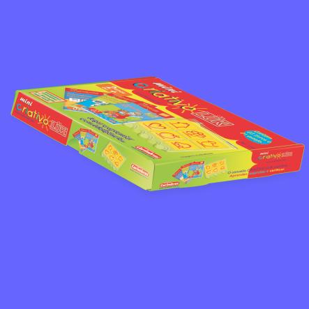 Mini Criativo Luk Kit Jogo Educativo Pedagógico 05 Livros E 01 Estojo