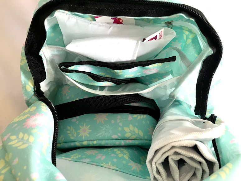 Mochila de Maternidade - Bebechila Térmica Florida Verde