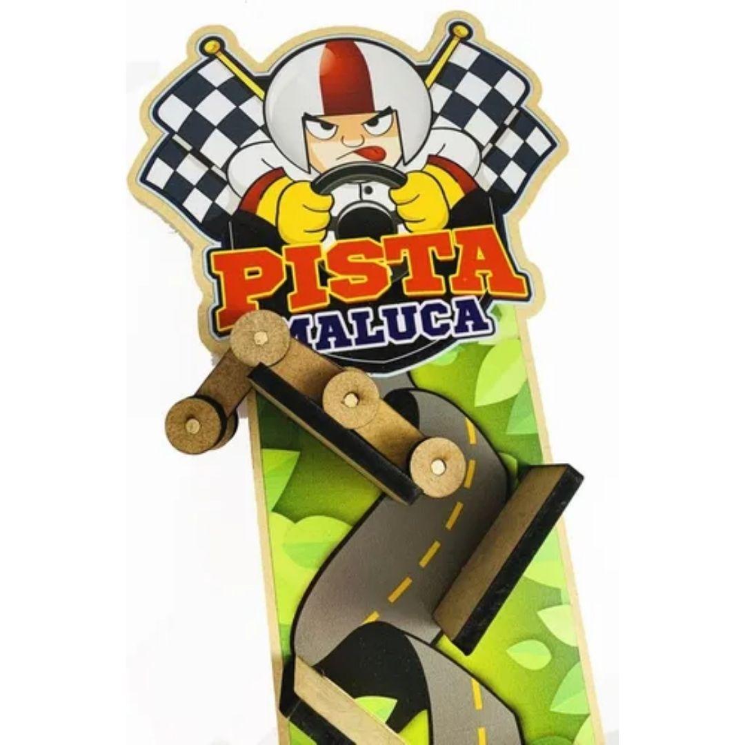 Pista Maluca Racing - Brinquedo Pedagógico Com Carrinho Infantil