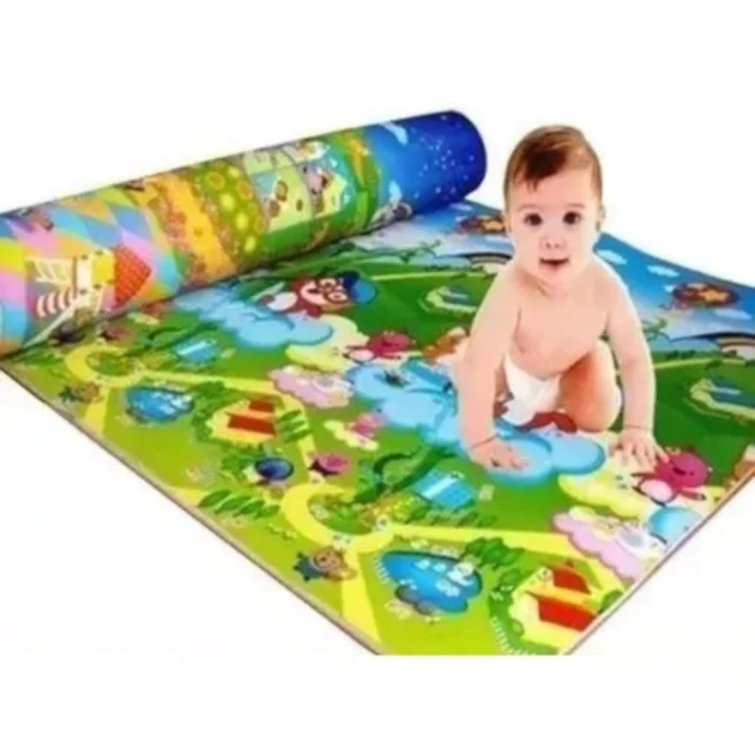 Tapete Infantil Atividades Bebê Portátil Térmico Conforto 0,90 x 1,20