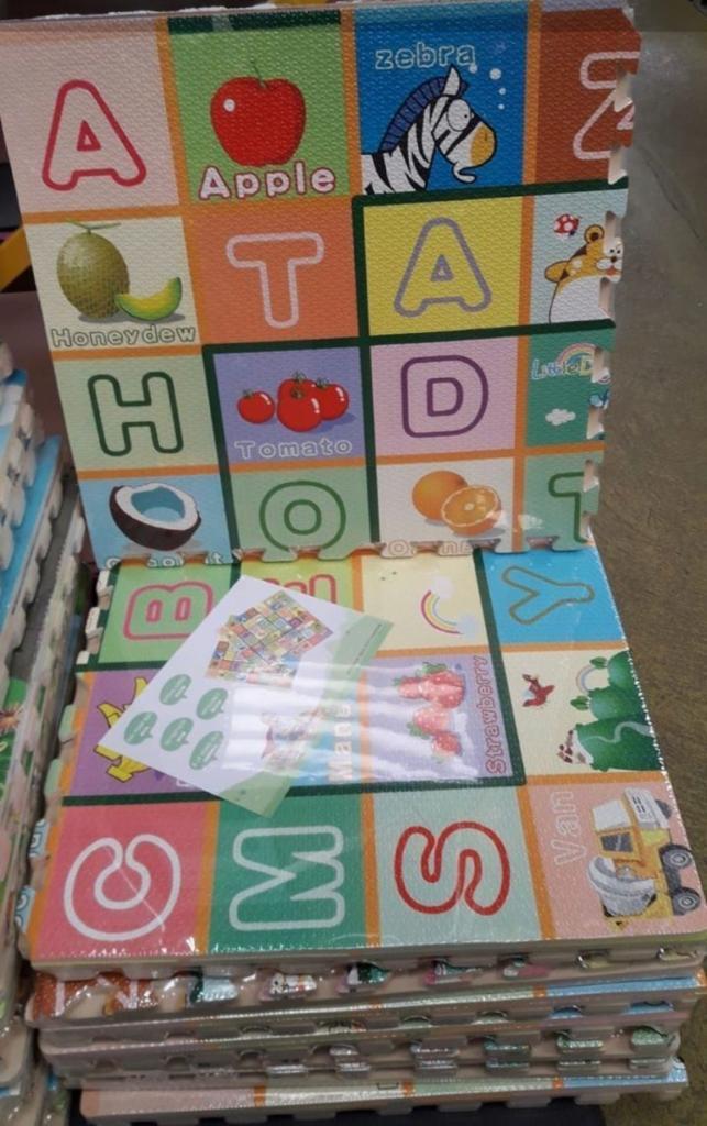Tapete Infantil Kit Estampado EVA - 4 peças