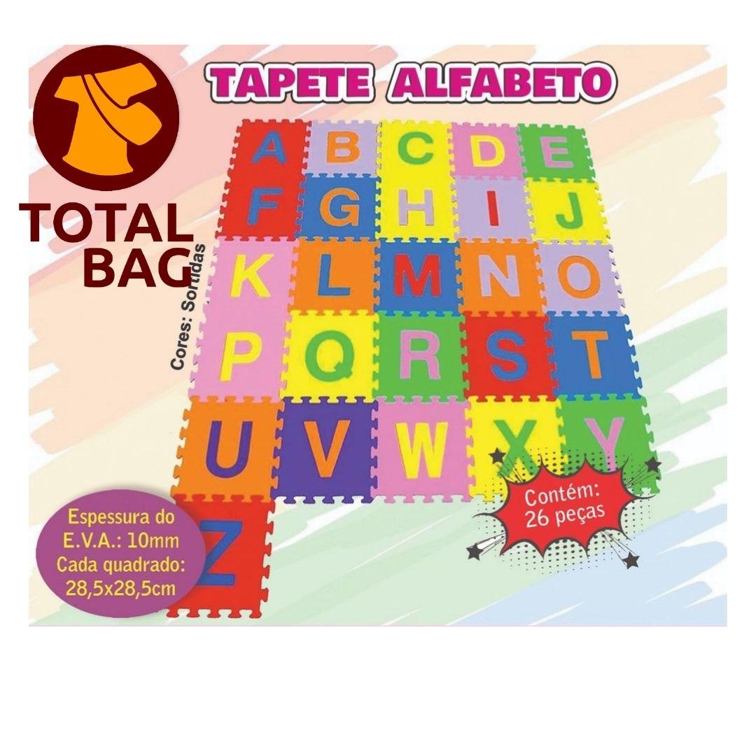 Tapete Infantil Educativo Tatame EVA Térmico - Alfabeto 26 peças - Ideal Bebê e Criança
