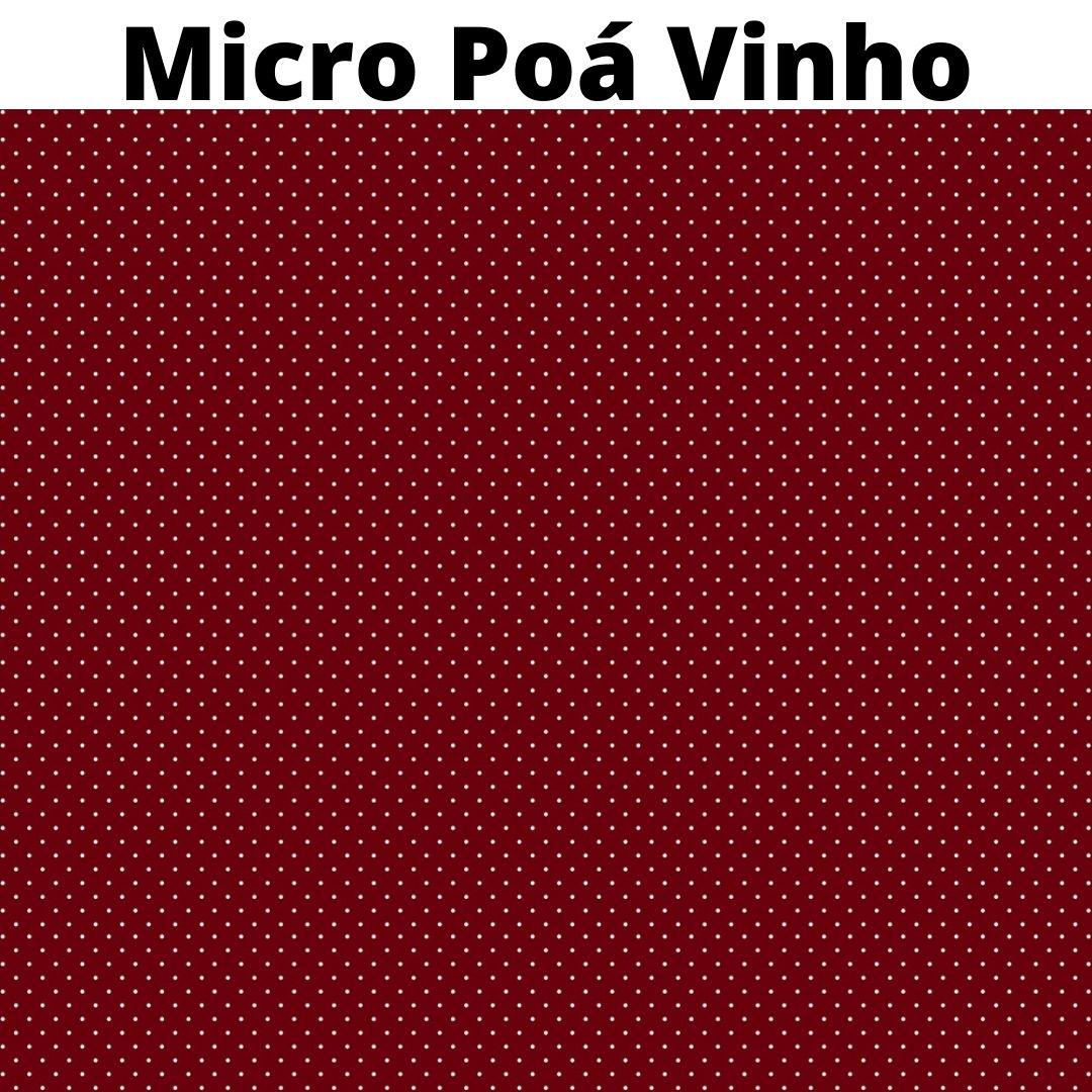 Tecido Tricoline 100% Algodão 0,50 cm x 1,50 m de Largura - Poá Mini