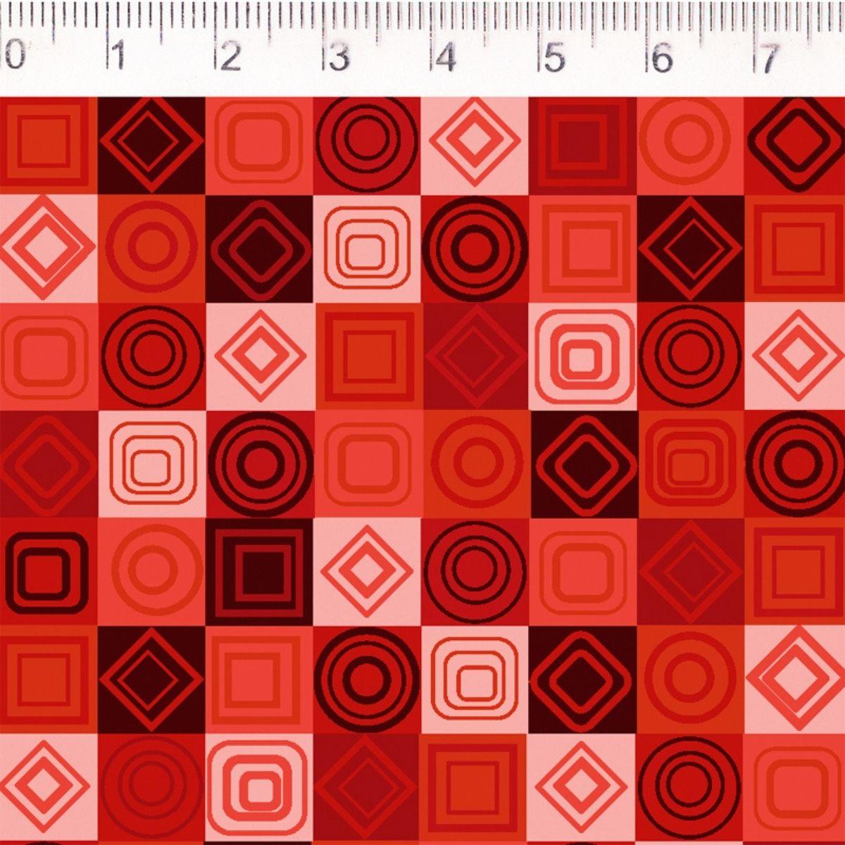 Tecido Tricoline 100% Algodão 0,50CMx1,50CM de Largura - Coleção Colorful