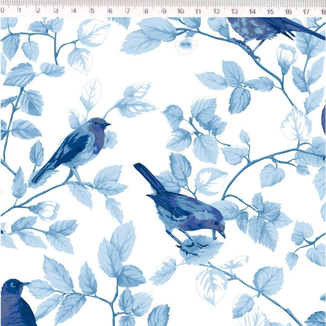 Tecido Tricoline 100% Algodão Coleção Azuis  0,50 cm x 1,50 m de Largura