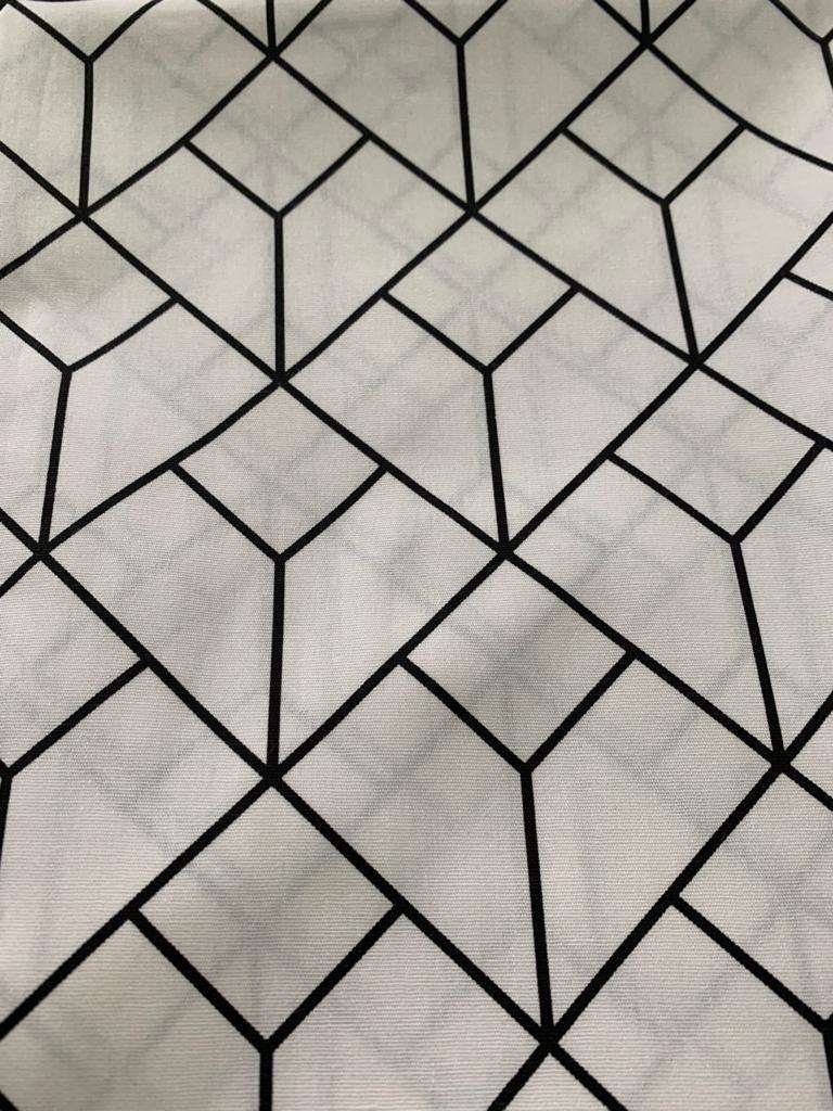 Tecido Tricoline 100% Algodão Coleção P&B 0,50 cm x 1,50 m de Largura