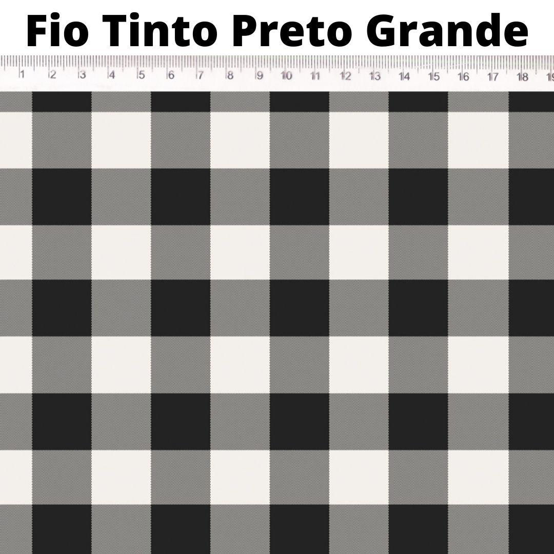 Tecido Tricoline 100% Algodão Estampas  0,50 cm x 1,50 m de Largura - Xadrez Fio Tinto