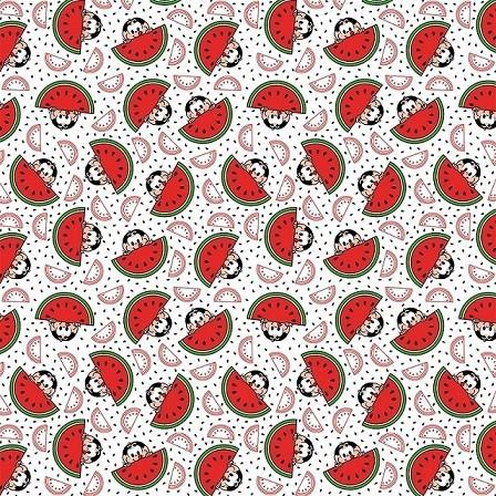 Tecido Tricoline 100% Algodão Estampas  3 Cortes 0,50 cm x 1,50 m de Largura - Coleção Turma da Mônica