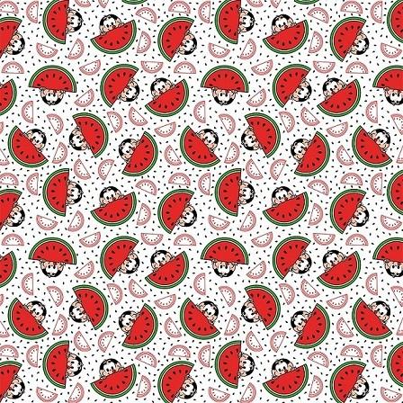 Tecido Tricoline 100% Algodão Estampas corte 0,50 cm x 1,50 m de Largura - Coleção Turma da Mônica