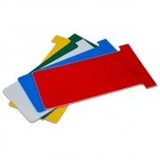 Cartão Kanban Colorido | PVC - Kit com 100 unidades