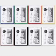 Combo Promocional 2 - 1 Organizador de Escritório Big-Vert + 5 Displays A4 bordas Coloridas - Isoflex