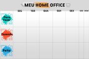 Quadro Flexível - Meu Home Office - Planner de atividades