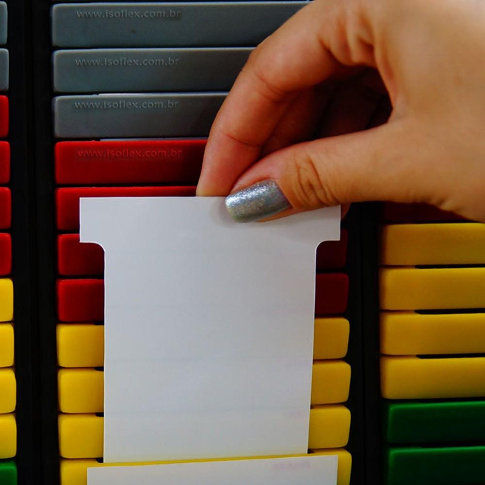 Cartão Kanban sem Gravação para Escrita | PYC - Kit com 100 unidades