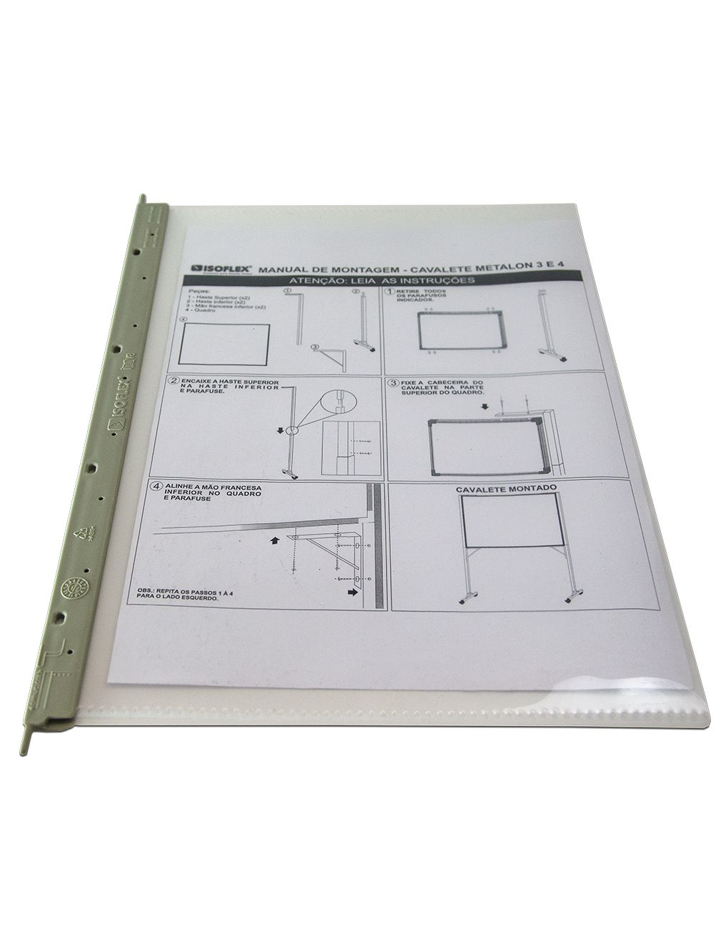 Combo Promocional 1 - 5 pastas Inova + 1 Suporte SIP1-005 + Kit com 5 Identificadores de Piso - Isoflex