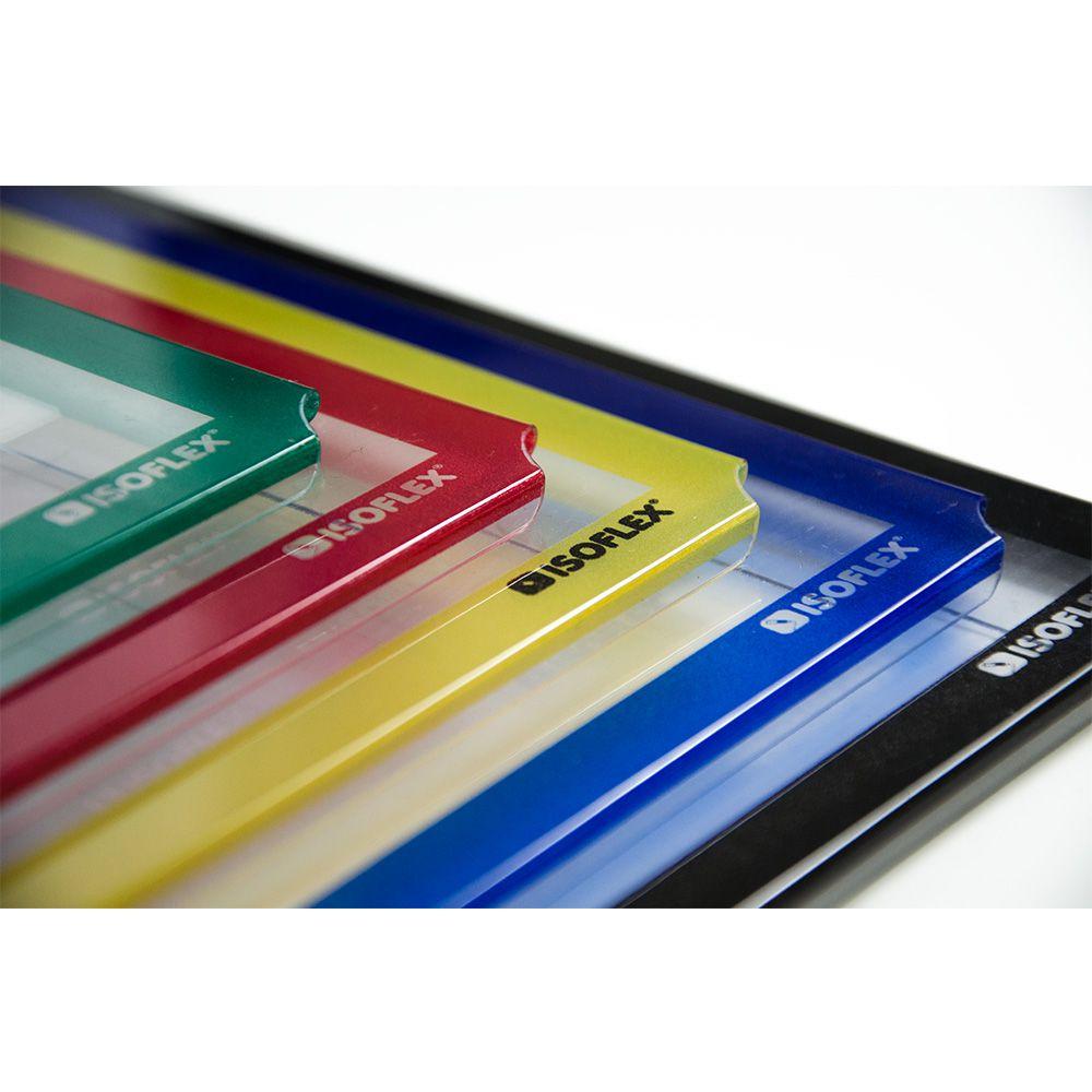 Display A4 Retrato Transparente com Borda Colorida - Isoflex