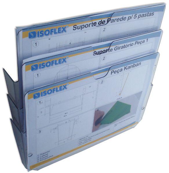 Escaninho A4 Expositor de Parede em PETG - Isoflex