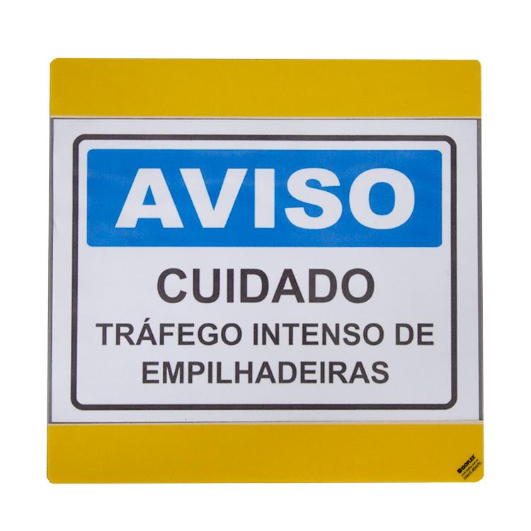 Identificador Adesivo para Piso (A4) c/ Abertura Lateral | Kit 05 unidades