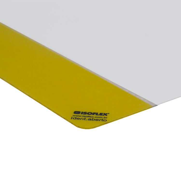Identificador Adesivo para Piso (A4) c/ Abertura Lateral | Kit 05 unidades - Isoflex